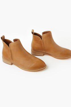 Douglas Tan Leather Ankle Boot