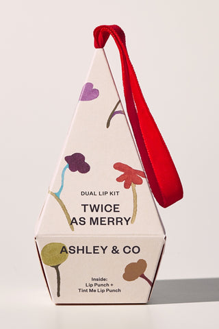Twice as Merry Lip Duo Hanging Gift Box