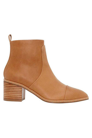 Baxter Slim Tan Stud Detail Boot