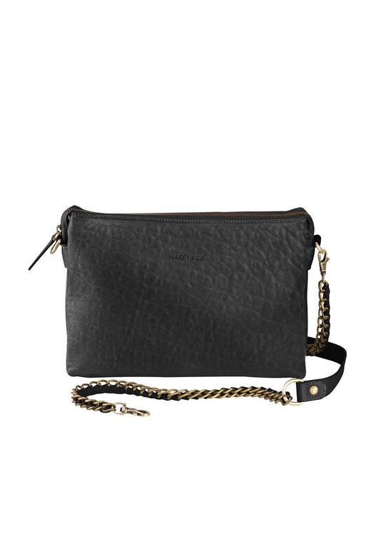 Everywhere Leather Black Clutch