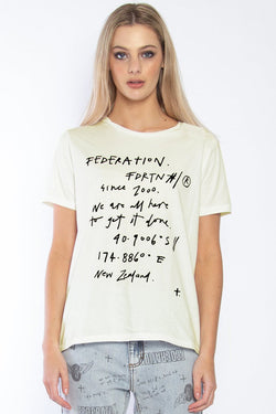 Ace Coordinates Graphic Ivory Tee