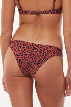 Fierce High Cut Rust Animal Bikini