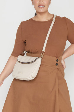 Fifi Chalk Leather Shoulder Bag