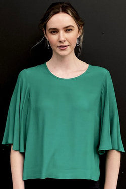 Finch Emerald Floaty Sleeve Top