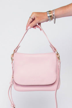 For Keeps Ballet Pink Crossbody Bag with Zipped Flap