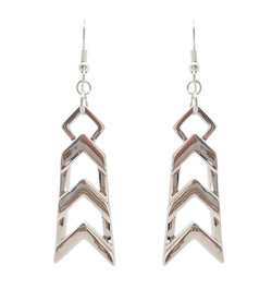 Framed Silver Earrings