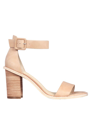 Grady Nude Leather Ankle Strap Heel