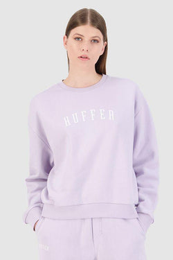Slouch Stateside Logo Lilac Crew Jumper