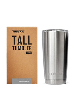 Brushed Stainless Steel Tall Tumbler 500ml