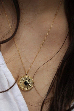 Antidote Gold Circle Necklace