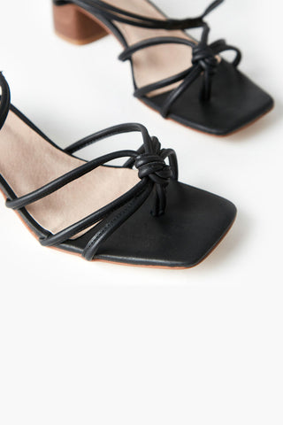 Inika Black Strappy Heel