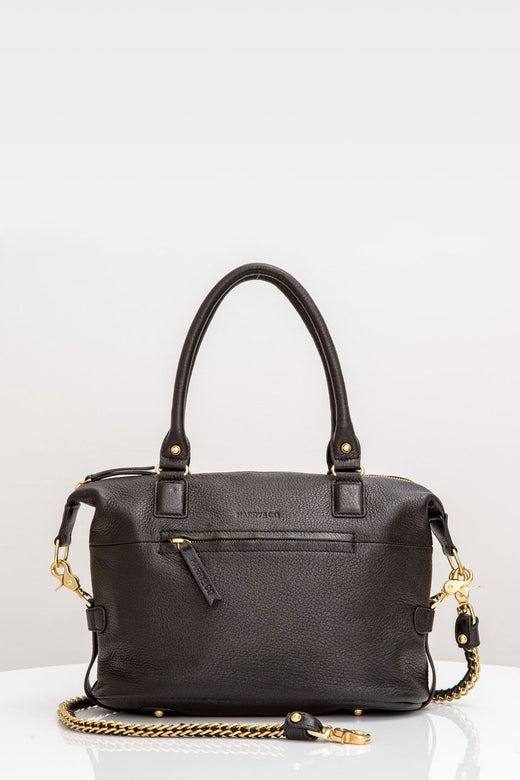Jackie Mini Black Leather Bag