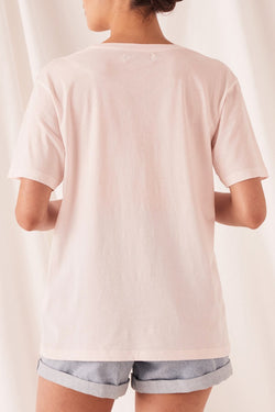 Logo Crew Pink Dew Cotton Tee