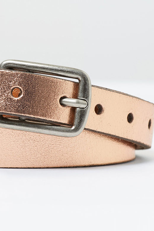 Is It Friday Yet Metallic Bronze Thin Belt