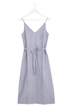 Lulu Blue Stripe Linen Slip Dress