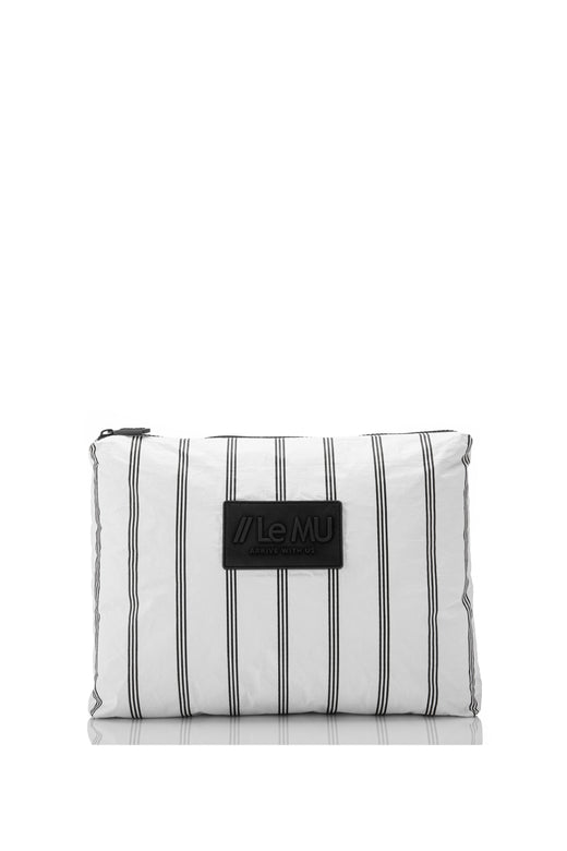 Medium Charter Black and White Stripe Pouch