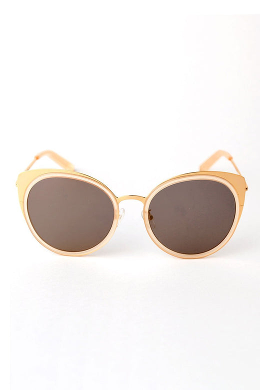 Mixed Metal Gold Catseye Sunglasses
