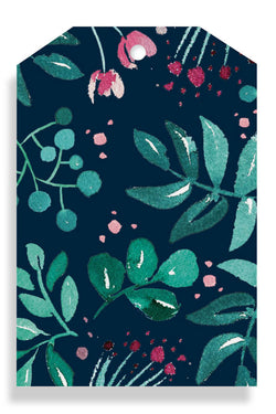 Greenery Navy Gift Tag