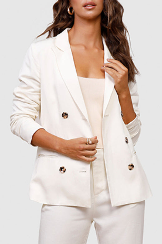 Nomadic Ivory Double Breasted Blazer