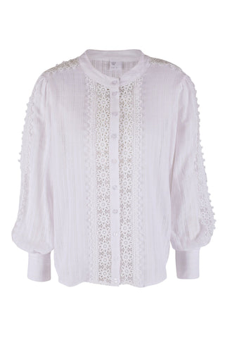 Obey White Lace Collared Shirt