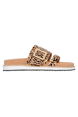 Ollie Mini Nude Spot Cork Buckle Slide
