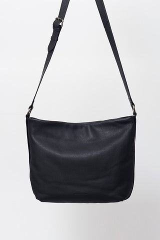 Penelope Large Black Satchel Bag