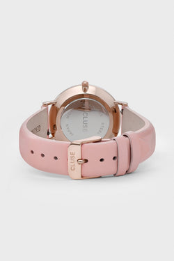 LaBoheme Rose Gold Watch White Face Pink Strape