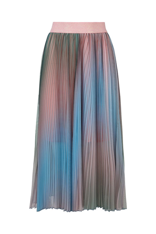 Pleat Pray Love Multi Cotton Sorbet Pleated Skirt