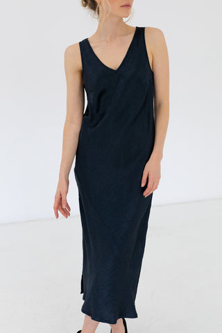 Queenie SL Midnight Slip Midi Dress