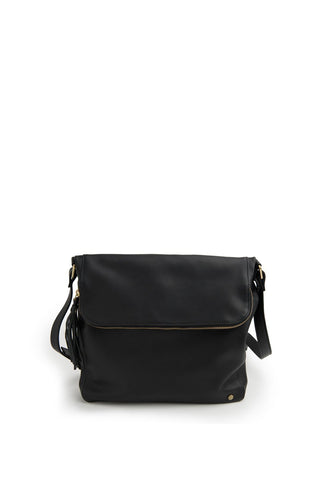 Alexa Soft Leather Satchel Bag Black