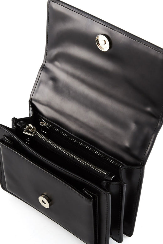 The Regis Silver Chain Side Bag Black
