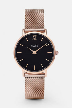 Minuit Mesh Black Face Watch