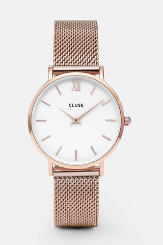 Minuit Mesh Rose Gold Watch
