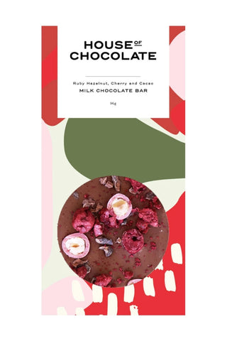 Ruby Hazelnut Cherry and Cacoa Milk Chocolate Bar