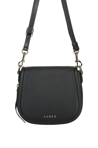 Sadie Black Saddle Shoulder Bag