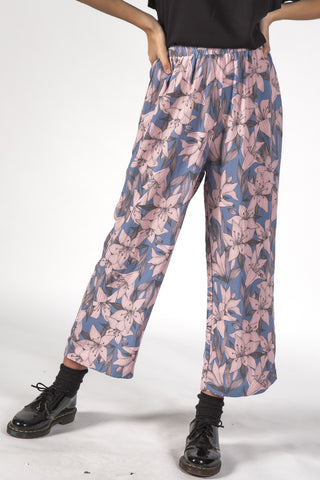 Sail Tropical Lily Blue Print Pant
