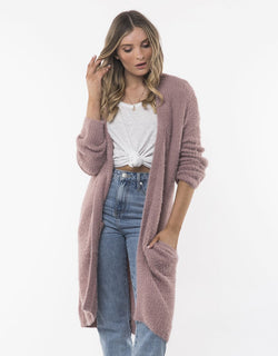 Pink Scarlet Long Cardigan