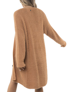 Tan Scarlet Long Cardigan