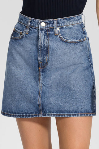 Piper Aline Mid Blue Denim Skirt