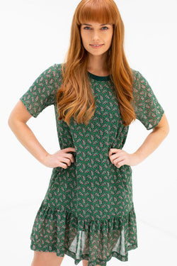 Sophie Secret Garden Forest Mini SS Ruffle Dress