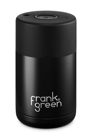 Stainless Steel Reuseable Black Cup 10oz