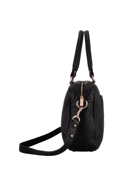 War With Obvious Top Handle Black Bubble Bag