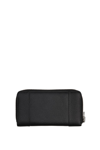 State of Flux Large Zip Around Black Wallet