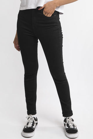 Vice High Skinny Black Denim Jean