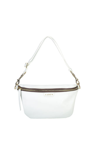 Walker Pebbled White Bum Bag