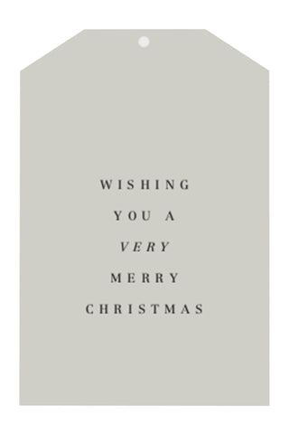 Wishing You A Merry Xmas Grey Gift Tag