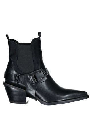 Yee Haa Black Vegan Leather Cowboy Boot