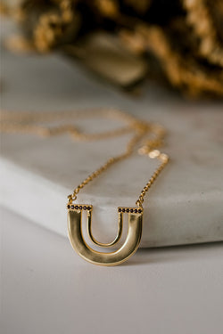 Zulu Gold U Shape Necklace
