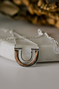 Zulu Silver U Shape Necklace