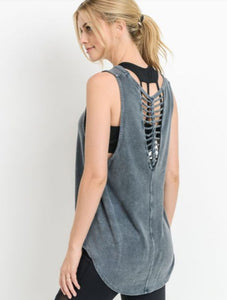 Braided Tank - Denim